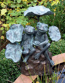 """Wasserspeier """"Frösche"""", Bronze"""