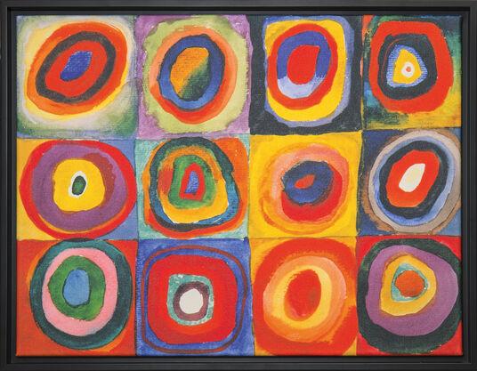 "Wassily Kandinsky: Bild ""Farbstudie Quadrate"" (1913), gerahmt"