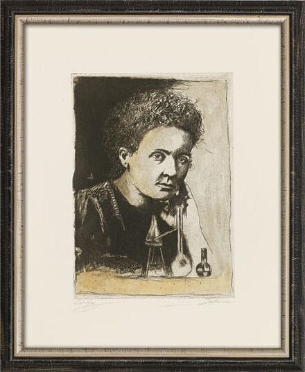 "Bernd Lehmann: Bild ""Marie Curie"", gerahmt"
