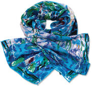 "Silk scarf ""Nympheas"""