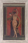 Fresko rot, aus der Villa dei Misteri in Pompeji, gerahmt
