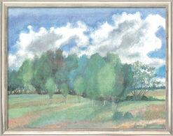 """Bild """"Landschaft mit Birken"""" (2002), gerahmt"""