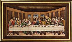 """Bild """"Das letzte Abendmahl"""" (1495-1498), gerahmt"""