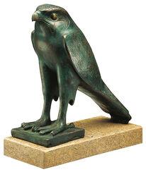 """Skulptur """"Horus-Falke"""", Version in Bronze"""