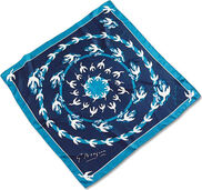 "Silk Scarf ""Aegle"", dark blue"