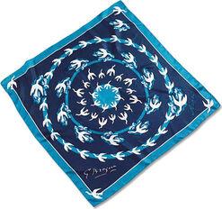 """Silk Scarf """"Aegle"""", dark blue"""