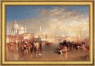 """Art print """"Venice, from the Canale della Giudecca"""" (1818), framed"""