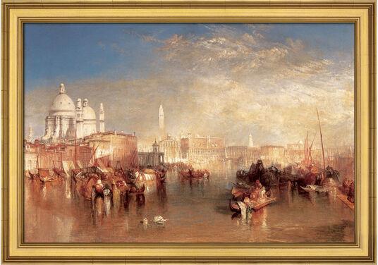 "William Turner: Bild ""Venedig, vom Canale della Giudecca aus gesehen"" (1840), gerahmt"