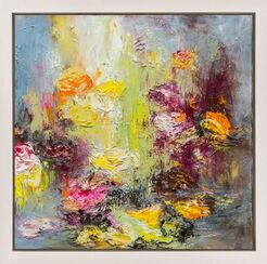 "Bild ""Blüten am Fluss II"" (2016) (Unikat)"