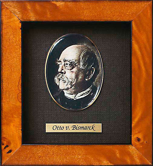 Miniature portrait of Otto von Bismarck (1815-1898)
