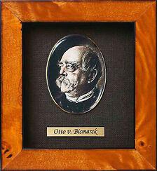 """Miniatur-Porzellanbild """"Otto von Bismarck"""" (1815-1898), gerahmt"""
