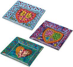 Set of 3 porcelain bowls with Artist designs