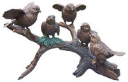 "Garden Sculpture ""Birds on Branch"", Bronze"