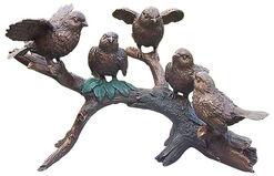 """Gartenskulptur """"Vögel auf Ast"""", Bronze"""