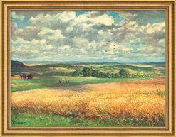 "Art print ""Maturating Corn"", framed"
