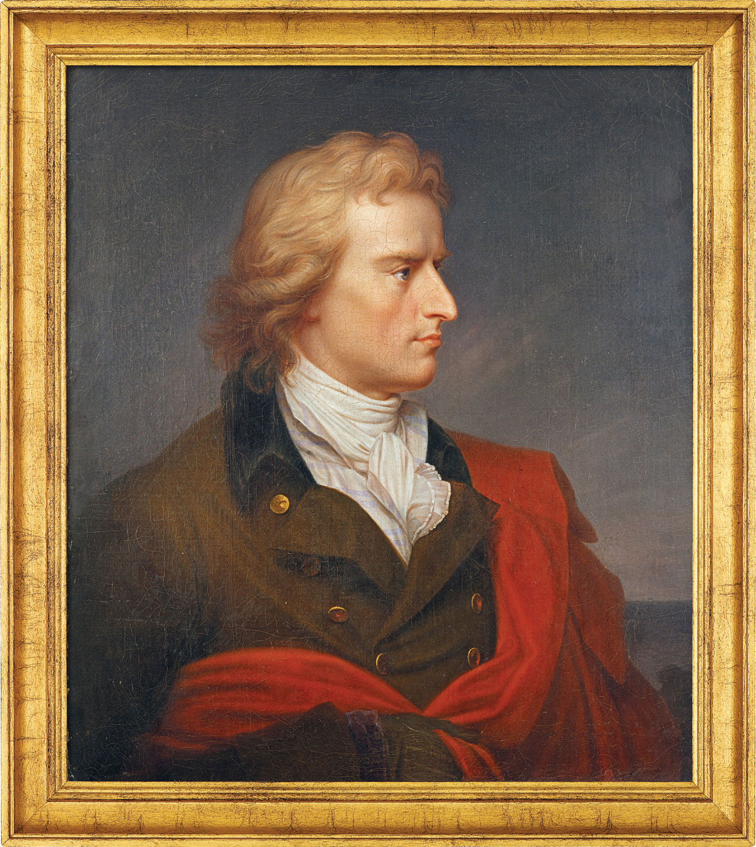 """Painting """"Schille's Portrait"""" (1808-1809) in a frame"""