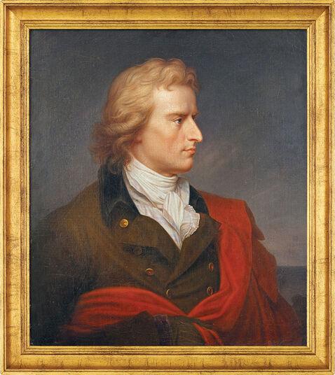 """Franz Gerhard von Kügelgen: Bild """"Schillerporträt"""" (1808-1809), gerahmt"""