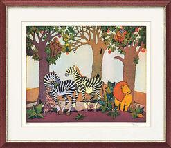 """Bild """"Zebrafamilie"""" (2004), ungerahmt"""