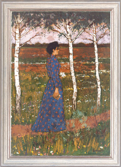 "Otto Eckmann: Painting ""Spring"""