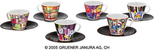 """Friedensreich Hundertwasser: 12-teiliges """"Hommage à Hundertwasser - Die universalen Sechs""""-Sammlerset"""