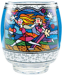 "Glass lantern ""Love Blossoms"""