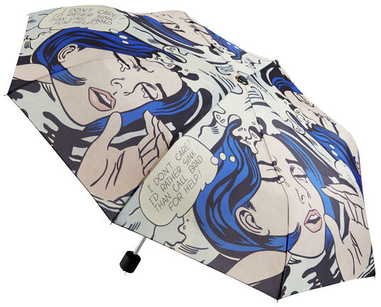"""Roy Lichtenstein: Taschenschirm """"Drowning Girl"""""""