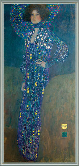 "Gustav Klimt: Bild ""Bildnis der Emilie Flöge"" (1902), gerahmt"