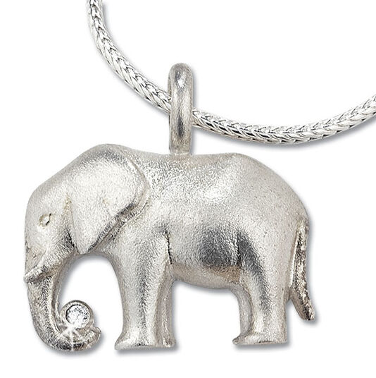 "Christiane Wendt: Necklace ""Luck Elephant"", 925 Sterling silver"