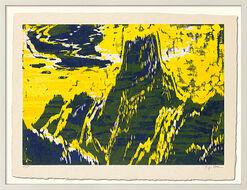 """Bild """"Tinzenhorn I"""" (2015), weiß gerahmt"""