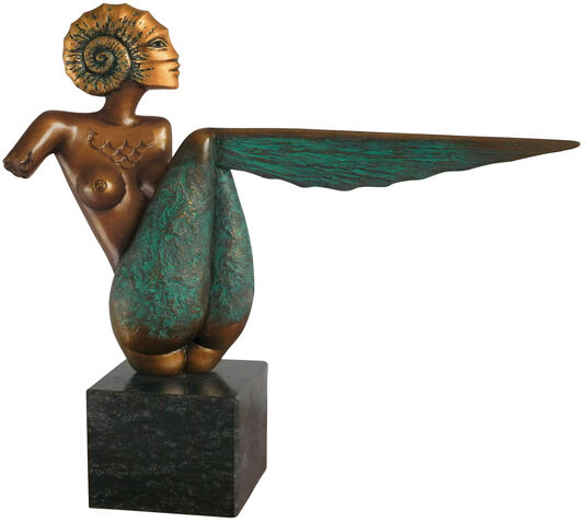 "Michael Becker: Skulptur ""Goldammonite"", Bronze"