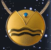 "Zodiac Necklace ""Aquarius"" (21.01-19.02) With Lucky Stone Turquoise"