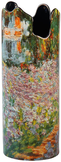 "Claude Monet: Porzellanvase ""Irisbeet in Monets Garten"""