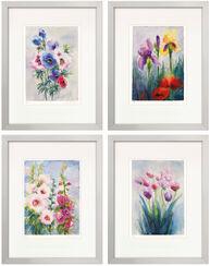 4 Blumenbilder im Set