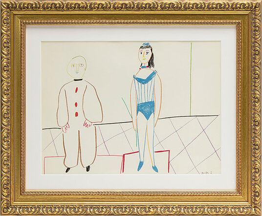 """Pablo Picasso: Bild """"Die Vorführung"""" (1954), gerahmt"""