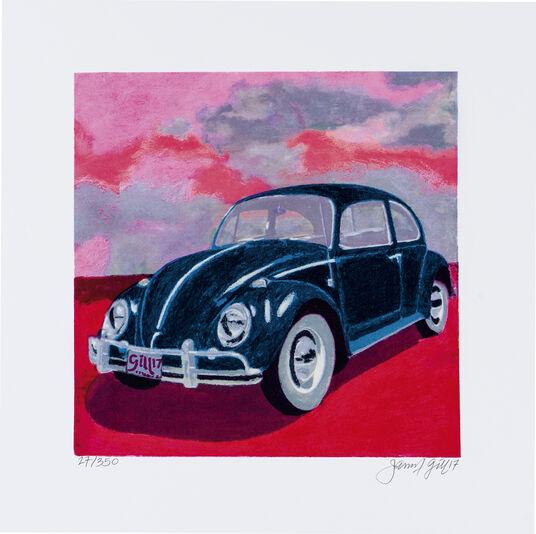 "James Francis Gill: Bild ""Mini Bug - Pink Sky"" (2017)"