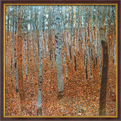 "Art print ""Birch Forest I"" (1902), framed"