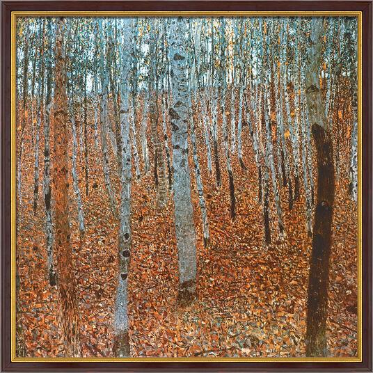 """Gustav Klimt: Bild """"Birkenwald I"""" (1902), gerahmt"""