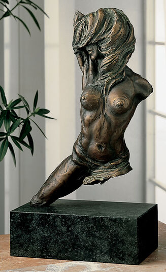 "Costanzo Mongini: Sculpture ""Passo di Danza"", bronze on marble"