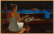 "Bild ""Das Piano"", gerahmt"