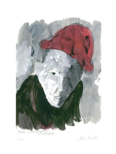 """Armin Mueller-Stahl: Bild """"Selbst als Narr (Shakespeare 'Was ihr wollt')"""" (2010), ungerahmt"""