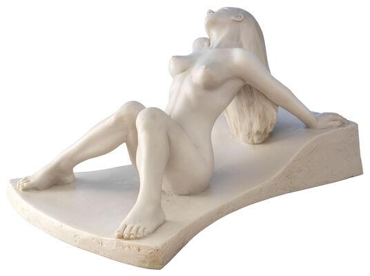 "Peter Hohberger: Skulptur ""Akt"", Version in Kunstmarmor"