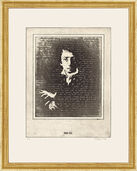 "Etching ""The Portrait of Heinrich Heine"""