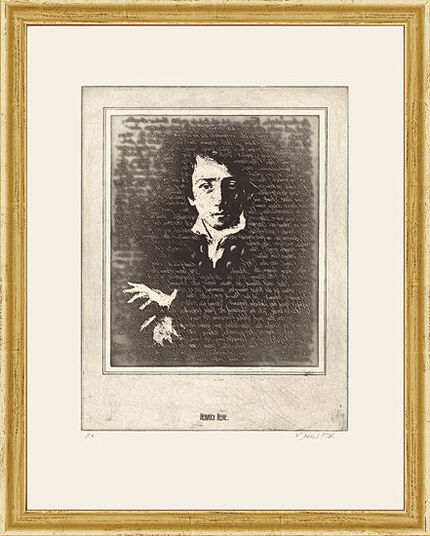 "Bodo W. Klös: Etching ""The Portrait of Heinrich Heine"""