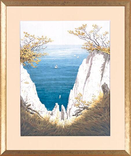 """Caspar David Friedrich: Picture """"Chalk Cliffs on Rugen Island"""" (1825/26)"""