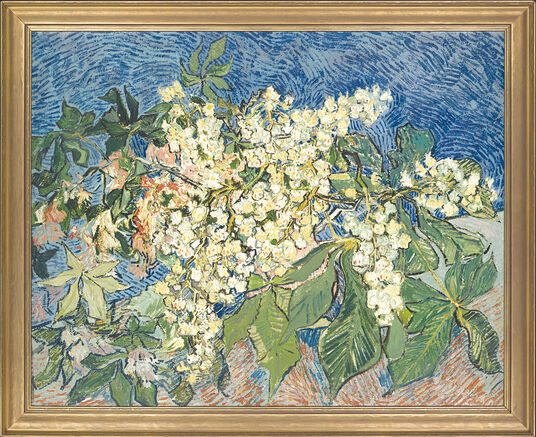 "Vincent van Gogh: Painting ""Blossoming Chestnut Branch"""