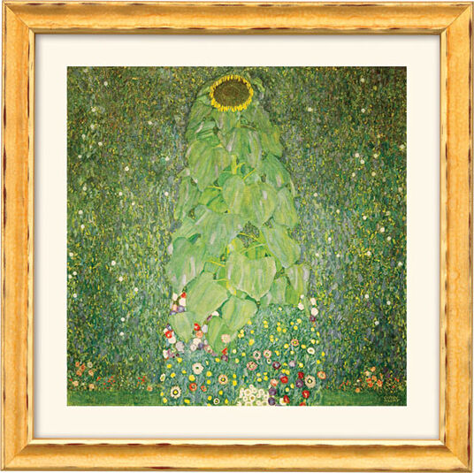 "Gustav Klimt: Painting ""The Sunflower"" (1907) with frame"
