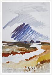 "Bild ""Hallighäuser"" (1990) (Unikat)"