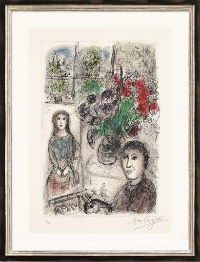 """Marc Chagall: Bild """"Staffelei mit Blumen"""" (1976)"""