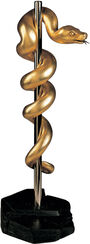 """The Brazen Serpent"", version in bronze, gilded"