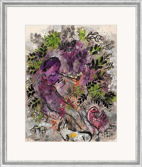 """Marc Chagall: Bild """"Der Junge in den Blumen"""" (1955), gerahmt"""